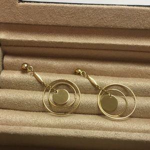14k Italy Dangle Earrings